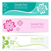 Flower banners . — Stock Vector