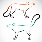 Vector image of an fox on white background — 图库矢量图片