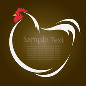 Vector image of an hen — Vector de stock
