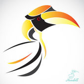 Vector image of an hornbill — Stock Vector