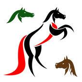 Image vectorielle d'un cheval — Vecteur