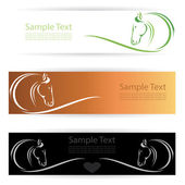 Horse banners . — Stock Vector