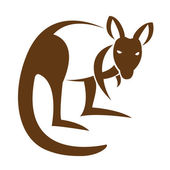 Vector image of an kangaroo — Vector de stock