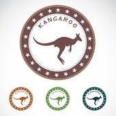 Set of vector kangaroo label — Stock Vector