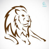 Vector image of an lion — Stock Vector