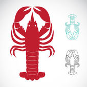 Vector image of an lobster — Stock Vector