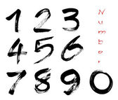 Numbers — Vettoriale Stock