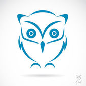 Vector image of an owl — Vettoriale Stock