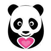 Vector image of an panda — Stock Vector