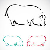 Vector image of an pig — Vector de stock