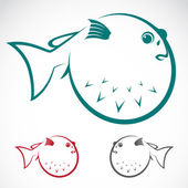 Vector image of an puffer — Vetorial Stock