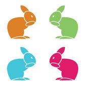 Immagine vettoriale di un coniglio — Vettoriale Stock