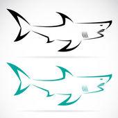 Vector image of an shark — Stock Vector