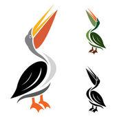 Vector image of an stork — Stock Vector