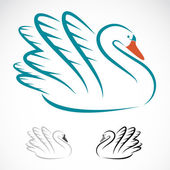 Vector image of swans — Vector de stock