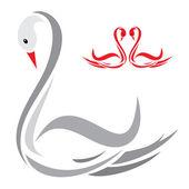 Swans — Stock Vector