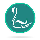 Vector image of an swans — Stock Vector