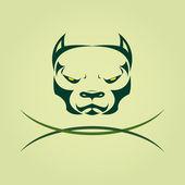 Vector image of head Dog Pitbull. — Stock Vector