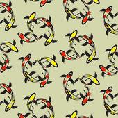 Seamless wallpaper carp koi — Wektor stockowy