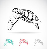 Vector image of an turtle — Stock Vector