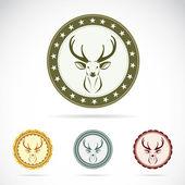 Set of vector deer label — Stock Vector