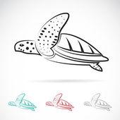 Vector de la imagen de una tortuga — Vector de stock