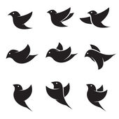 Set of vector bird icons  — Stock Vector