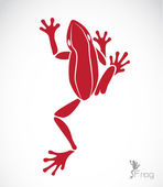 Vector image of a frog  — Vector de stock