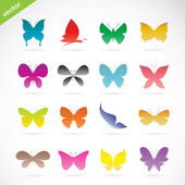Vector group of colorful butterfly  — Stock Vector