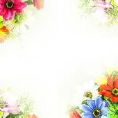 Flower background.  Fake flowers  — Foto de Stock