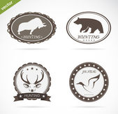 Hunting labels set  — Stock Vector