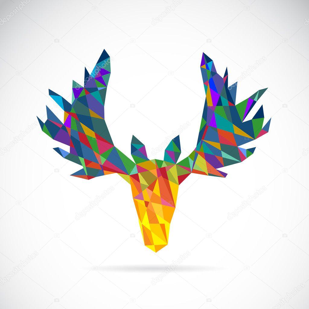 Image vectorielle dun dessin de t te de cerf image vectorielle yod67 46581833 - Dessin de tete de cerf ...