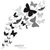 Butterfly design on white background  — Stock Vector