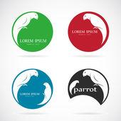 Bir papağan tasarım vektör görüntü — Stok Vektör