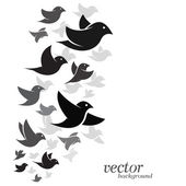 Bird design on white background  — Stock Vector