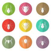 векторная группа паука в круге — Cтоковый вектор