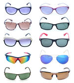 Group of beautiful sunglasses — Stock Photo