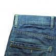 Denim Pocket Closeup - texture background of jeans — Stock Photo #50643827
