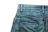 Denim Pocket Closeup - texture background of jeans — Stockfoto