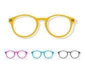 Vector image of glasses orange  — Stock Vector