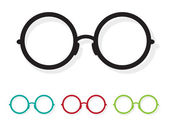 Vector image of Glasses white  — Stock Vector