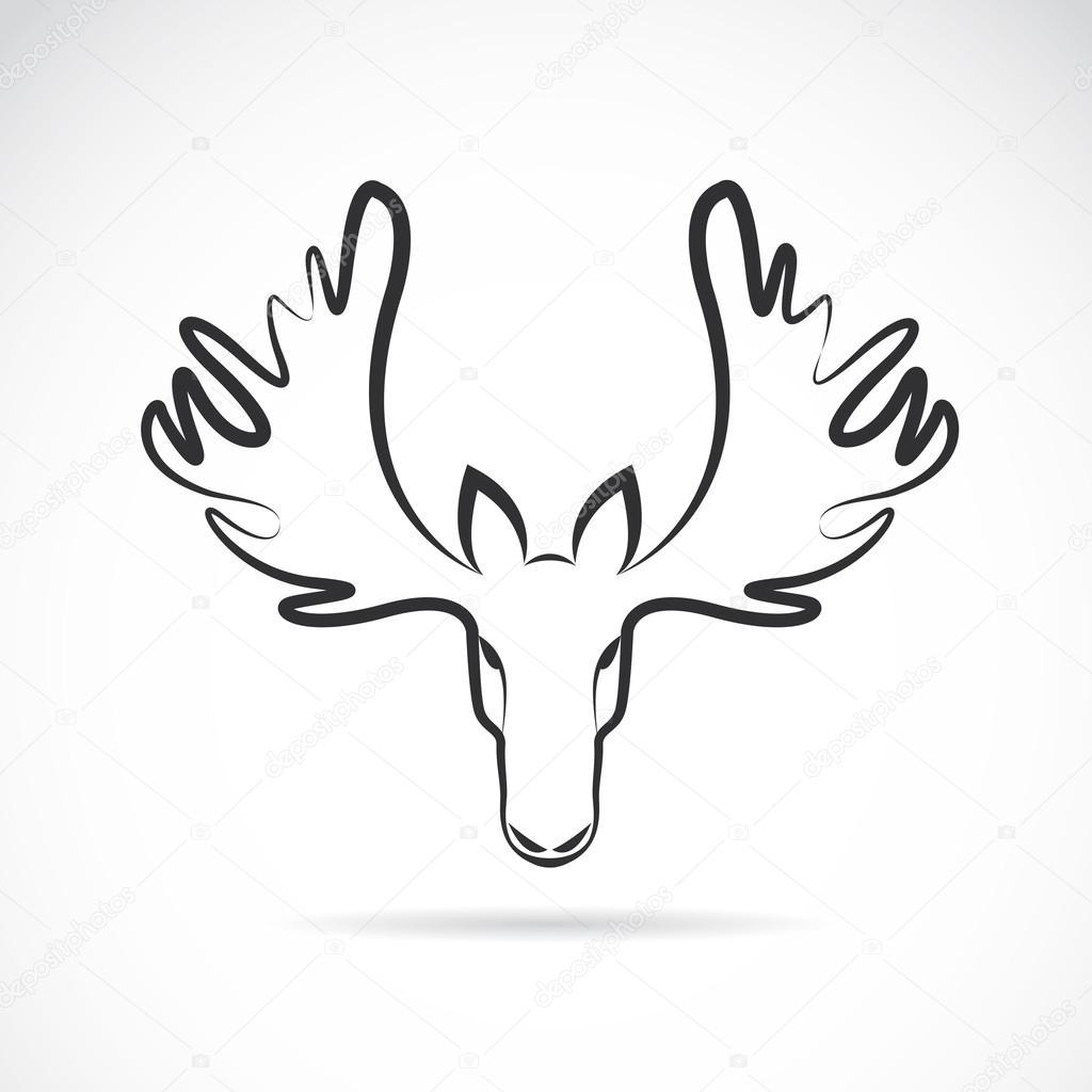 矢量图像的驼鹿头鹿