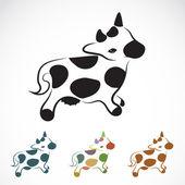 Vektorový obrázek krávy — Stock vektor
