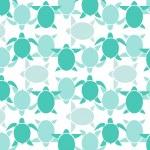 Seamless wallpaper blue turtle. Vector illustration — Stock Vector