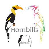 Vektorový obrázek hornbill — Stock vektor