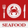Crab, Fork and Knife icon, restaurant sign — Stock Vector #51587239