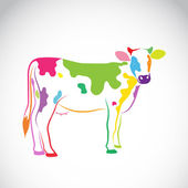 Vector image of an cow on white background — Stock Vector