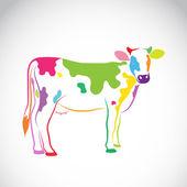 Vector de la imagen de una vaca sobre fondo blanco — Vector de stock