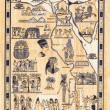Tourist map of egypt painted on papyrus — Stock Photo #19667991