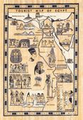 Tourist map of egypt painted on papyrus — Stock Photo